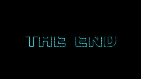 The End LEDS 02 stock footage