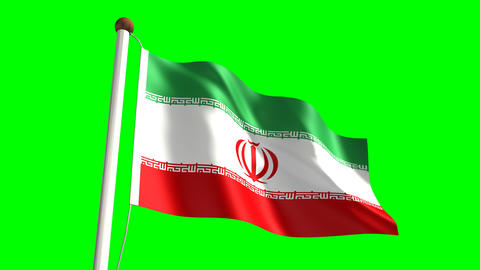 Iran Flag stock footage
