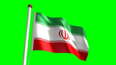 Iran flag Stock Video Footage