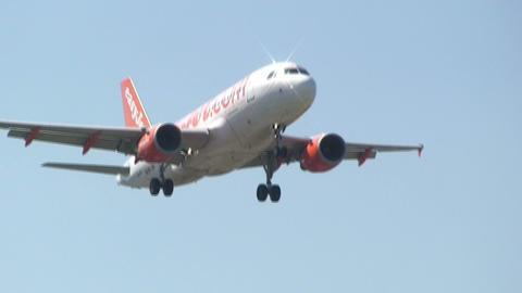 EASYJET airplane Stock Video Footage