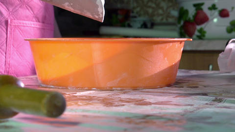 Sifting Flour HD Stock Video Footage