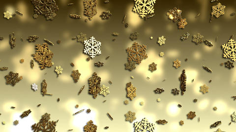 Falling Snowflakes Christmas Background Stock Video Footage