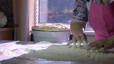 Grandmother Baking HD Stock Video Footage