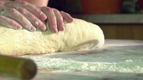 Kneading Dough HD Stock Video Footage