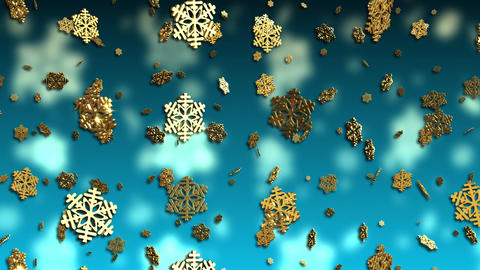 Falling Snowflakes Christmas Background Animation