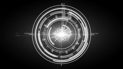 Animation of scanner target effect Stock Video Footage