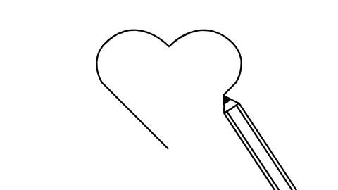 Drawing a heart Stock Video Footage