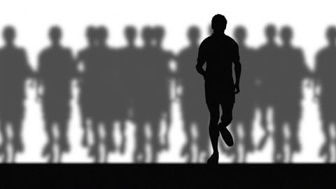 Runners (blurred background) Stock Video Footage