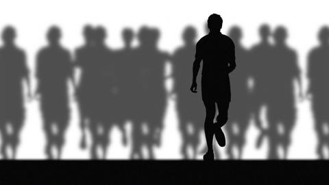Runners (blurred Background) stock footage