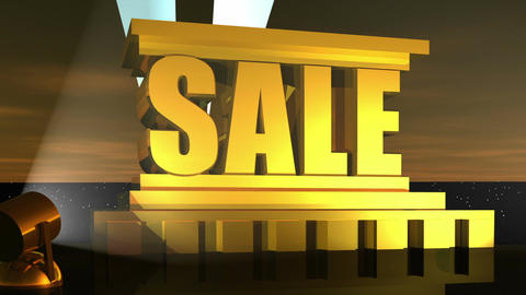 Sale Word Animation Stock Video Footage