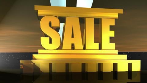 Sale Word Animation Animation