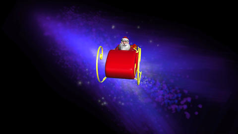 Santa Claus in his sleigh Stock Video Footage