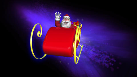 Santa Claus in his sleigh Animation