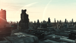 Sci Fi Cityflight Animation