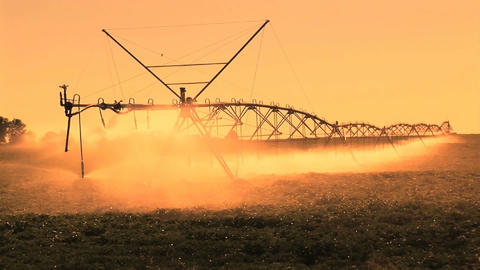 Farm Irrigation stock footage