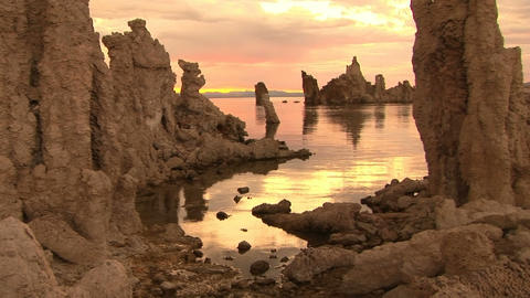 Sunrise at Mono Lake Stock Video Footage