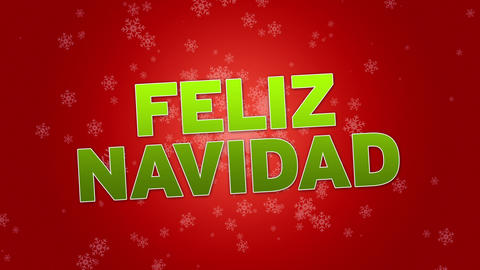 Merry Christmas (In Spanish) Stock Video Footage
