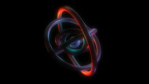 orbit torus rings Stock Video Footage