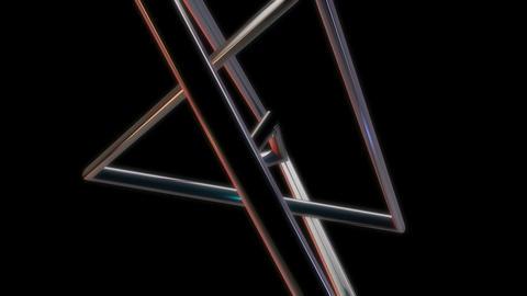triangle metal orbits Stock Video Footage