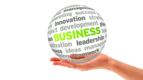 Business Word Sphere Stock Video Footage