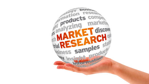 Market Research Word Sphere Stock Video Footage