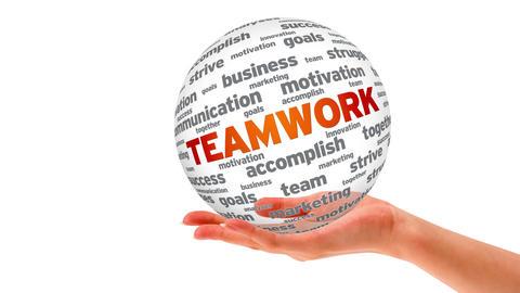 Teamwork Word Sphere Stock Video Footage
