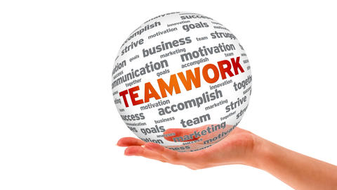 Teamwork Word Sphere Animation