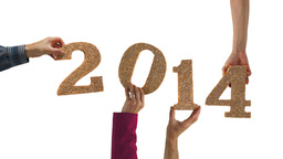 2014 New Year Hands stock footage