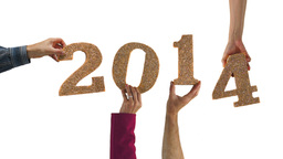 2014 New Year Hands Stock Video Footage