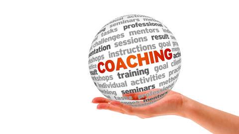 Coaching Word Sphere Stock Video Footage