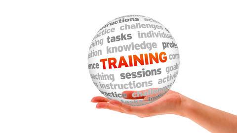 Training Sphere Stock Video Footage