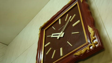 Square wall clocks Footage