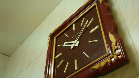 Square wall clocks Stock Video Footage