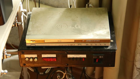 DVD player Stock Video Footage