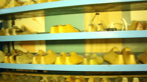 Shoe pads on the shelves Stock Video Footage