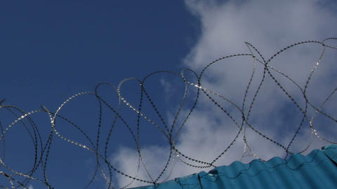 Barbed wire Stock Video Footage