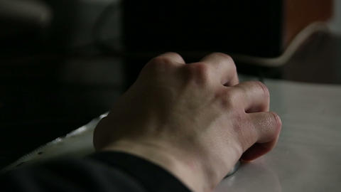 The mouse in his hand Footage