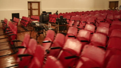 The chairs in the auditorium Stock Video Footage