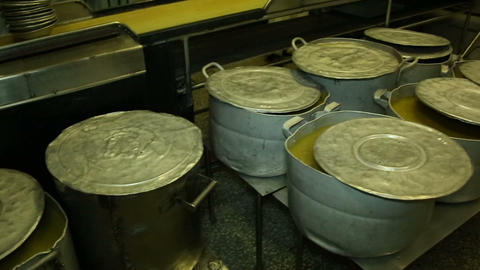 A Big Pot Of Soup In The Kitchen stock footage