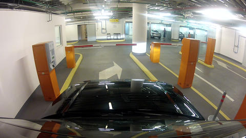Leaving the car of the underground Parking Stock Video Footage