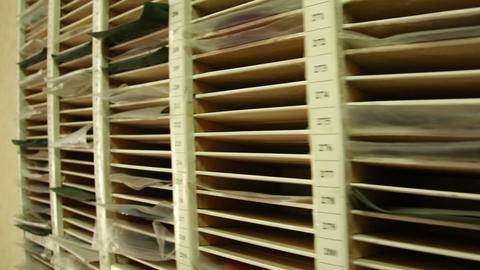 Shelf with DVD Stock Video Footage