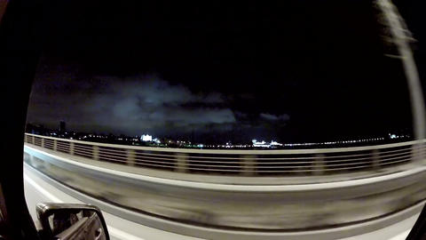 Travel on the night highway Footage