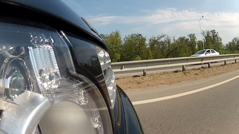 Driving on a highway outside the city Stock Video Footage