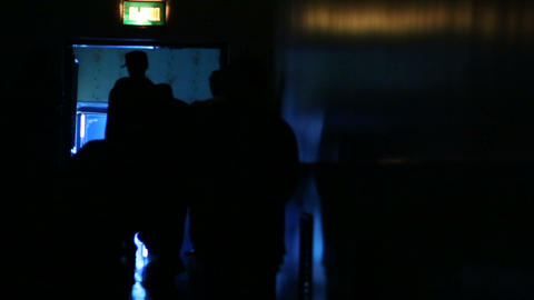 Silhouettes of convicted criminals Stock Video Footage