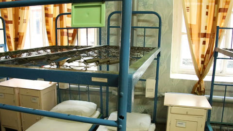 The prison bunks Stock Video Footage