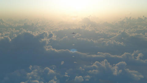 Aircraft above the clouds 2 Stock Video Footage