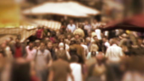 Crowd in Slow Motion Stock Video Footage