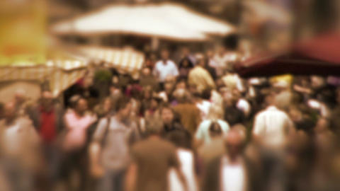 Crowd In Slow Motion stock footage