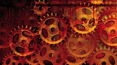 Gear wheels red Stock Video Footage