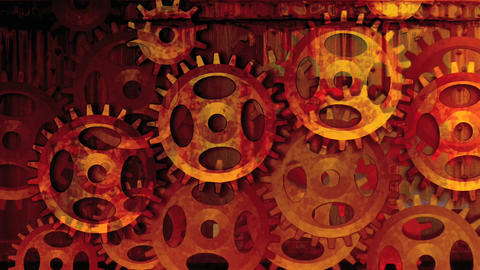 Gear wheels red Animation